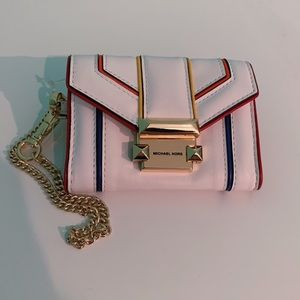 MICHAEL KORS Whitney Rainbow Leather Chain Wallet